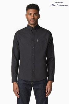 Ben Sherman Black Plain Oxford Shirt