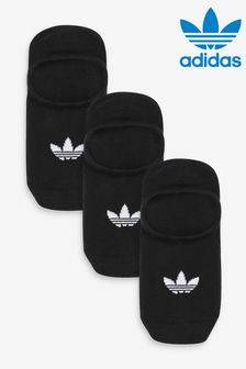 adidas Originals Adults Black No Show Socks Three Pack