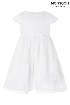 Monsoon Natural Baby Alovette Christening Gown