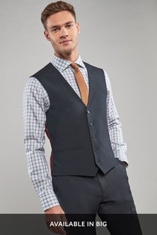 Bright Blue Stretch Tonic Suit: Waistcoat