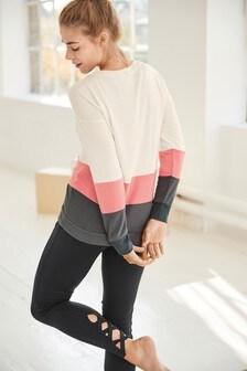 Colourblock  Tie Side Sweater
