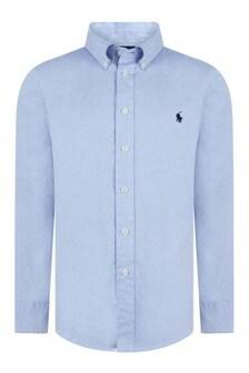 Boys Light Blue Long Sleeve Blake Shirt