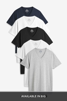Mixed V-Neck T-Shirts Five Pack