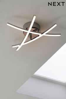 Chrome Amari LED Flush Ceiling Light