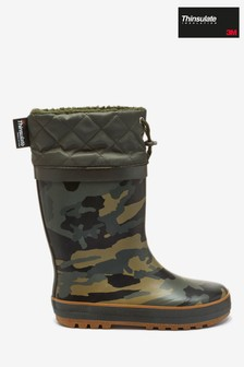 Camouflage Thinsulate™ Cuff Wellies (Older)