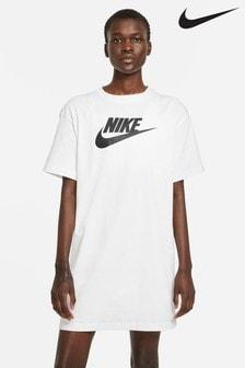 Nike White Essential Future Icon T-Shirt Dress
