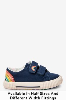 Navy Rainbow Standard Fit (F) Trainers (Younger)