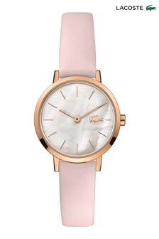 Lacoste Pink Leather Moon Mini Watch