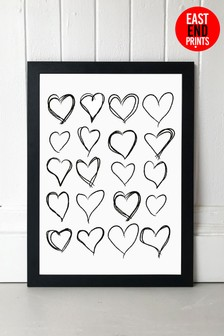 Lovehearts by Honeymoon Hotel Framed Print