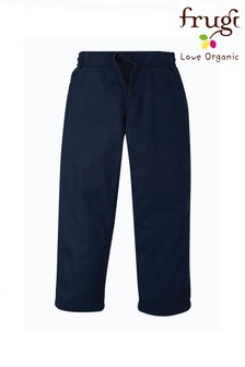 Frugi Organic Cotton Navy Smart Or School Trousers