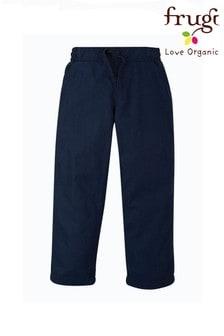 Frugi GOTS Organic Navy Smart Or School Trousers