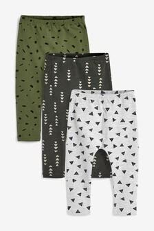 Mono Print 3 Pack Leggings (3mths-7yrs)