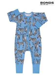 Bonds Blue Zulu Zebra Track And Field Zip Wondersuit