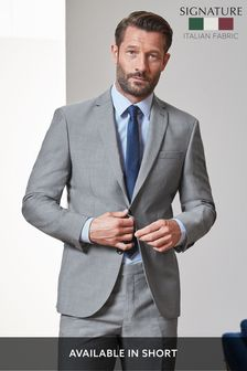 Light Grey Regular Fit Signature Suit: Jacket
