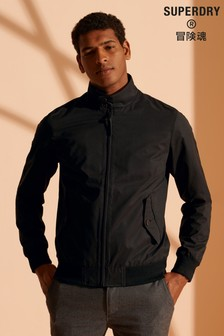 Superdry Iconic Black Harrington Jacket
