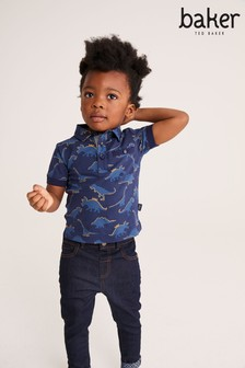 Baker by Ted Baker Navy Dino Polo