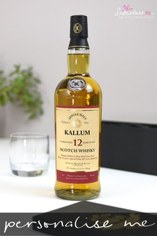 Personalised Father's Day 12 Year Old Malt Whisky by Signature PG