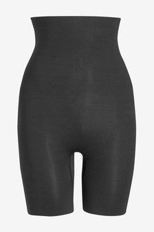 Black Medium Control Thigh Smoother