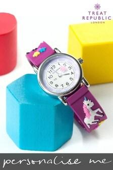 Personalised Unicorn Kids Watch by Treat Republic