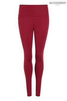 Accessorize Red Full Length Leggings