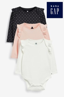 Gap Baby Frill Shoulder Sleepsuits Three Pack