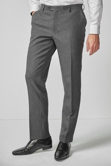 Grey Tailored Fit Puppytooth Suit: Trousers