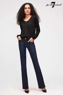 7 For All Mankind Indigo Boot Cut Stretch Bair Jean