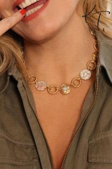Kate Thornton 'Night Sky' Gold Tone Charm Necklace