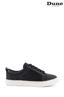 Dune London Black Wide Fit Estee Mixed Material Slim Trainers