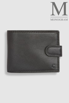 Black Monogram Leather Extra Capacity Wallet