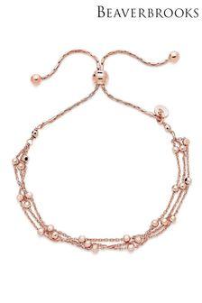 Beaverbrooks Plated Triple Strand Bracelet
