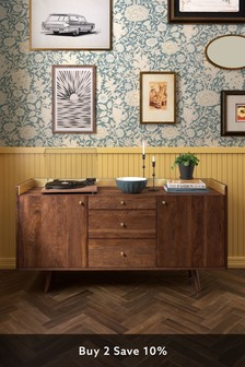 Brown Swoon Fresco Sideboard Large Brown Brass
