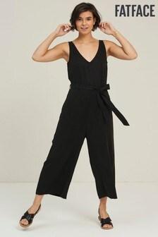 FatFace Black Ulla TENCEL™ Jumpsuit
