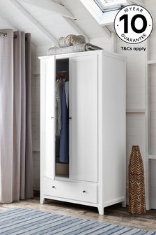 White Ashington Double Wardrobe