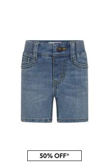Levis Kidswear Baby Boys Blue Cotton Blend Shorts