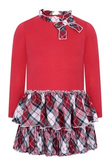 Mayoral Girls Red Tartan Dress