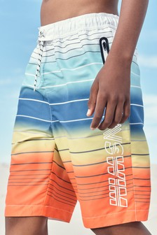 Stripe Board Swim Shorts (3-16yrs)