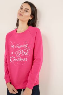 Pink  Womens Christmas Sweater