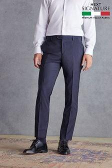 Navy Slim Fit Signature Suit: Trousers