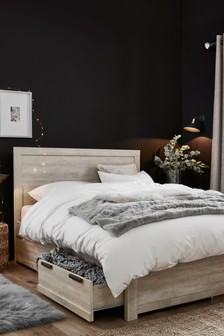 White Bronx Two Drawer Bed
