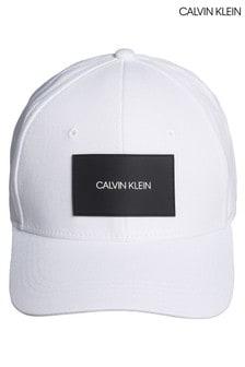 Calvin Klein White Branded Patch Twill Cap