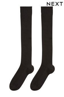 Black 2 Pack Over Knee Socks