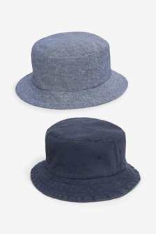 Navy 2 Pack Bucket Hats (Older)