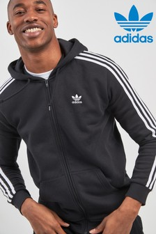 adidas Originals 3 Stripe Zip Through Hoodie