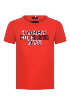 Boys Red Organic Cotton T-Shirt