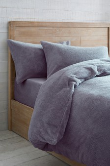 Mauve  Super Soft Fleece Duvet Cover and Pillowcase Set