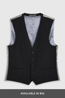 Black Stretch Tonic Suit: Waistcoat