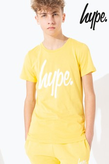 Hype. Yellow Hype Script Kids T-Shirt