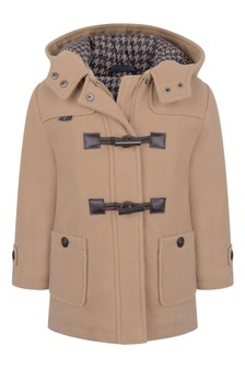 Boys Beige Duffle Coat