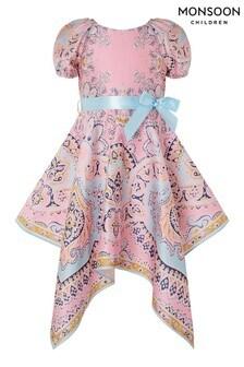 Monsoon Pink Paisley Print Dress